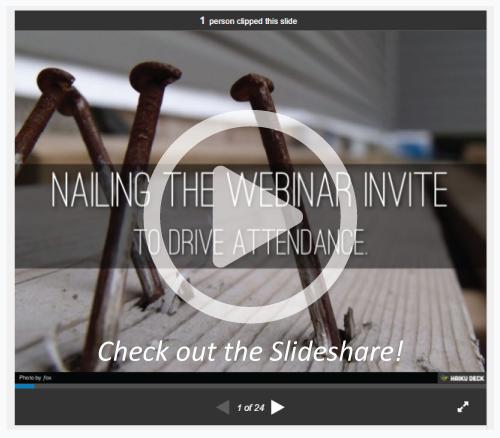webinar invite slideshare