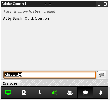 Adobe Connect Screen share - chat controls