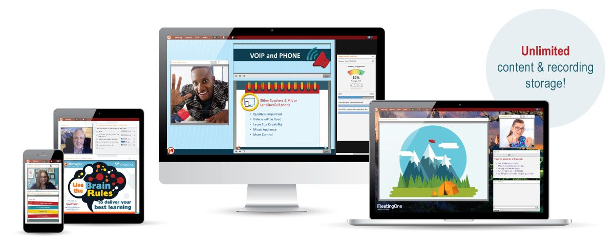 adobe connect platform display across mobile devices, desktop, and laptop