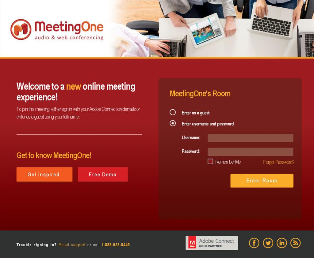 Adobe connect 9 background image size - We Offer A Range Of Customizable Options From Basic To Advanced Landingpage_final_desktop_default Custom Adobe Connect Login Page