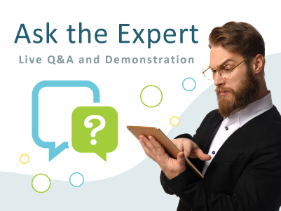 Display for MeetingOne's ask the expert live Q&A and demo