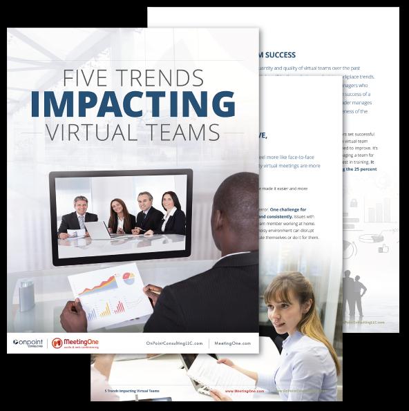 Five trends impacting virtual teams ebook display