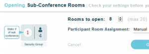 sub-conference rooms in your online meeting