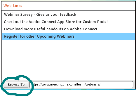 adobe connect web links pod