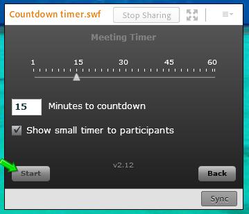 webinar checklist timer