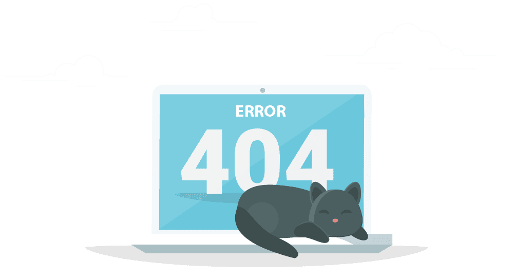 meetingone 404 redirect page image cat sitting on computer