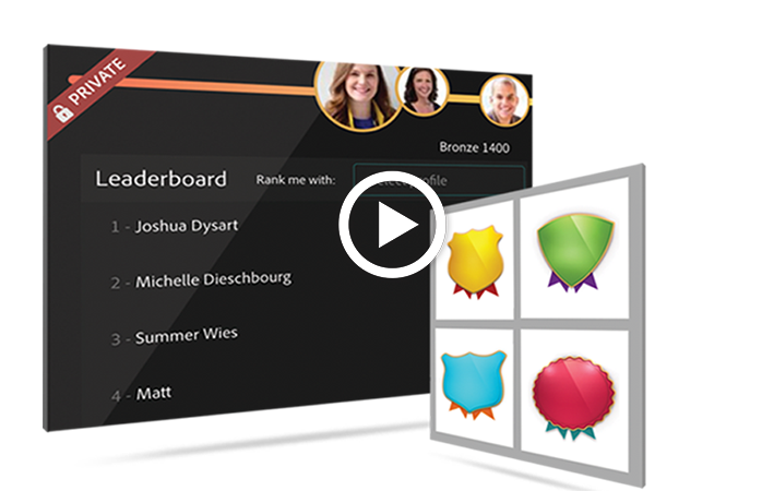 captivate prime badges and leader boards lms