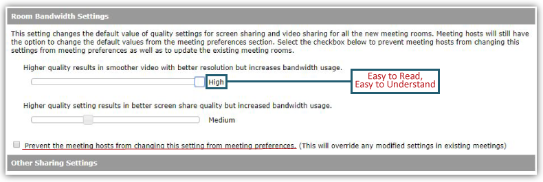 adobe connect bandwidth settings