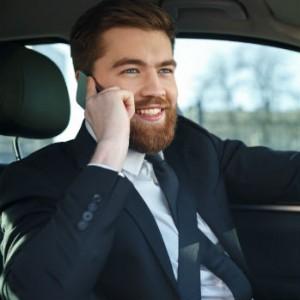 Smiling Dweeb on Phone