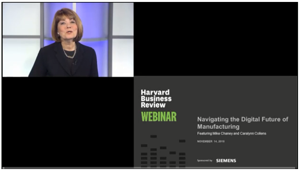 HBR webinar title with a strong action verb