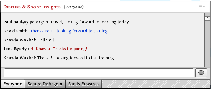chatting in Adobe Connect MOOC