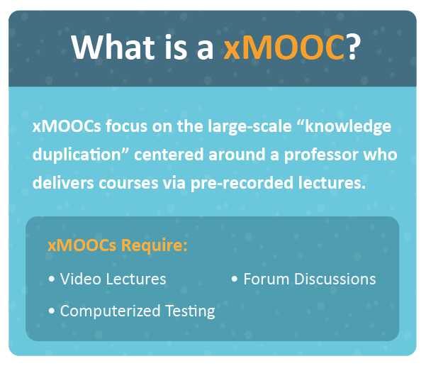 What is a MOOC? What is a xMOOC?