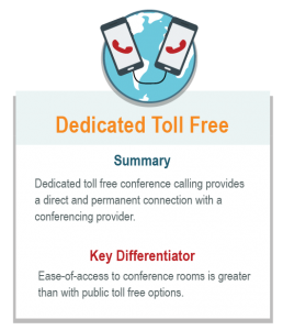 dedicated toll free conference calling