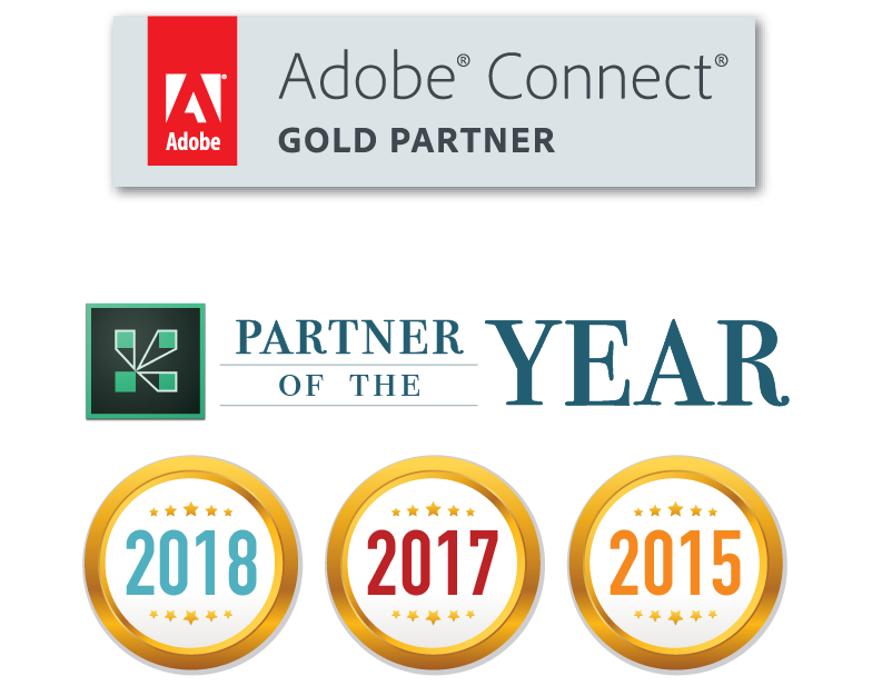 Best Adobe Connect Partner_MeetingOne was partner of the year in 2015, 2017, and 2018