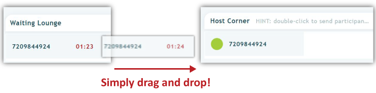 drag and drop callers