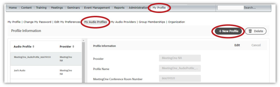 integrate audio in adobe connect