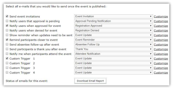 webinar marketing - email options