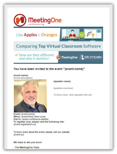 webinar marketing - email preview example