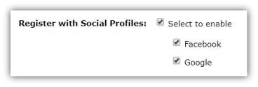 webinar marketing - social reg option