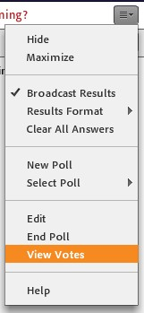 display of adobe connect poll pod menu_View votes