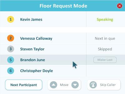 Click&Meet floor request mode guide