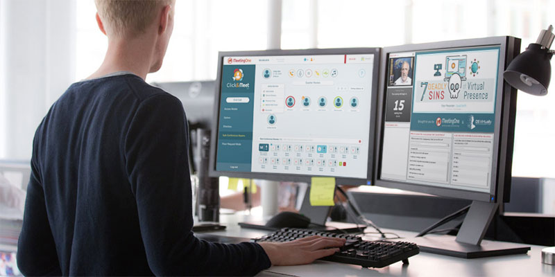 use adobe connect and click&meet side by side for better webinars