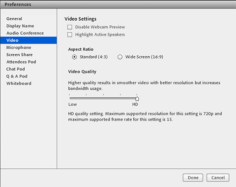 defining the bandwidth consumption of adobe connect video pod