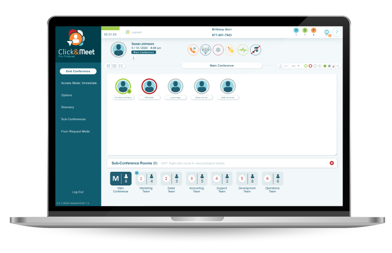 Control your conference call with Click&Meet Desktop audio management