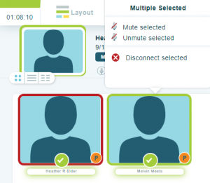 Enhanced muting options in your online meeting