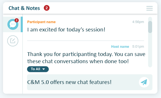 Chat during your online meeting